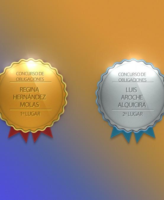 Ganadores del concurso de Obligaciones 2016-I